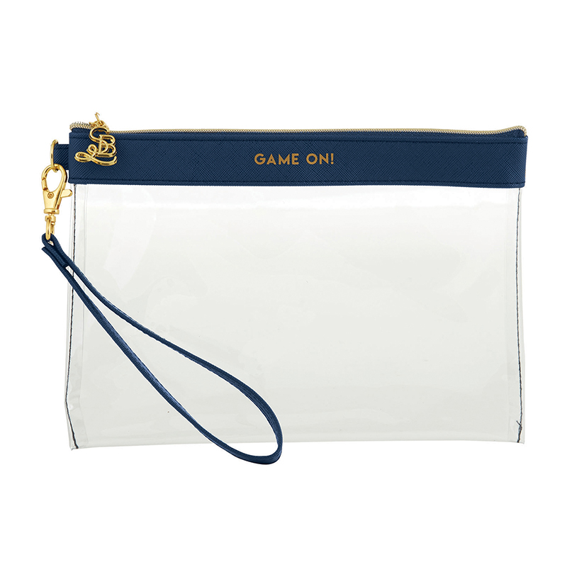 Clear Wristlets - Game On - Navy