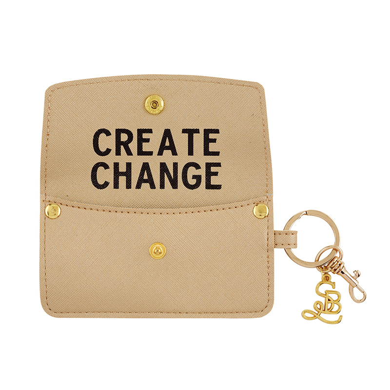 Credit Card Pouch - Create Change - Gold