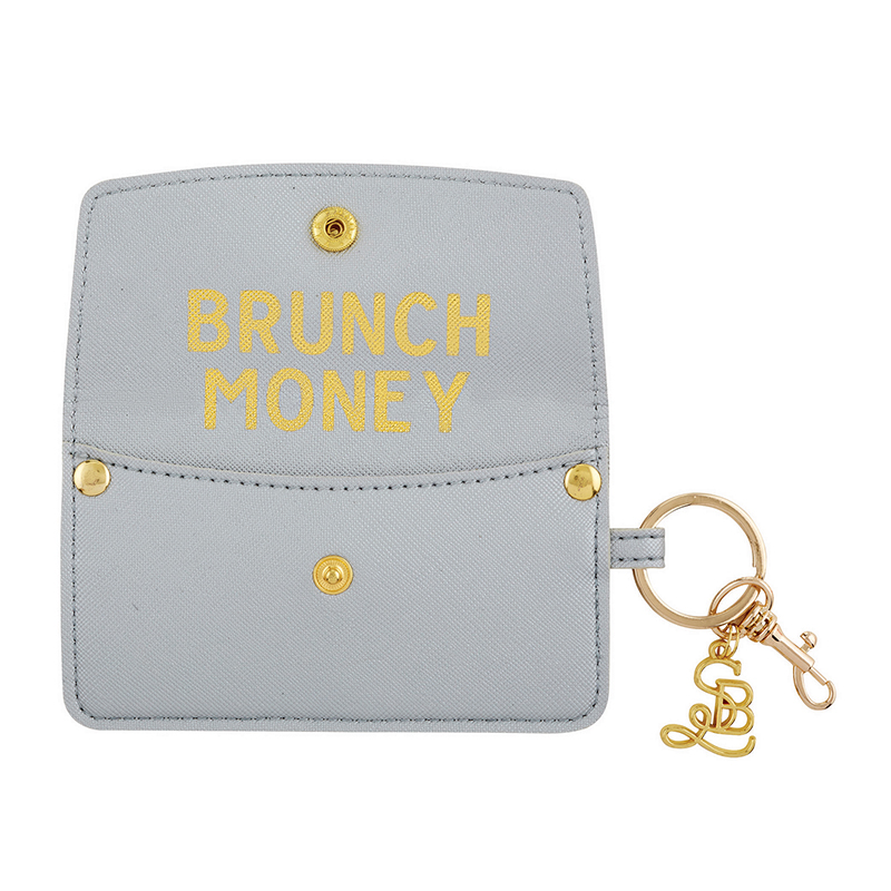 Credit Card Pouch - Brunch Money - Silver Rose
