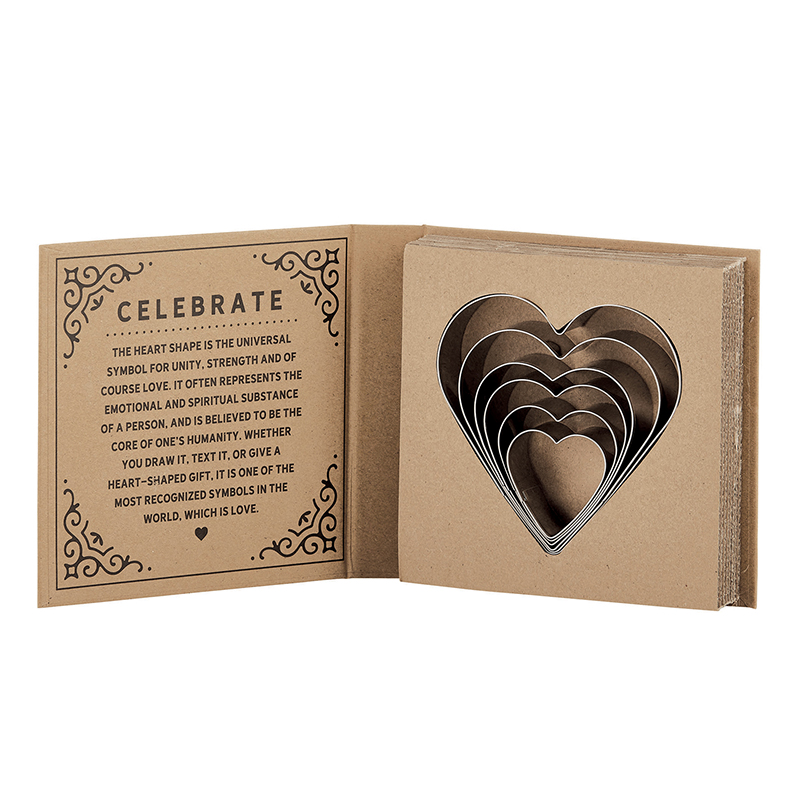 Cardboard Book Set - Heart Cookie Cutters