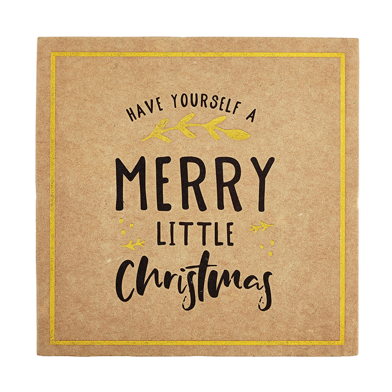 Cardboard Coasters - Merry Little Christmas