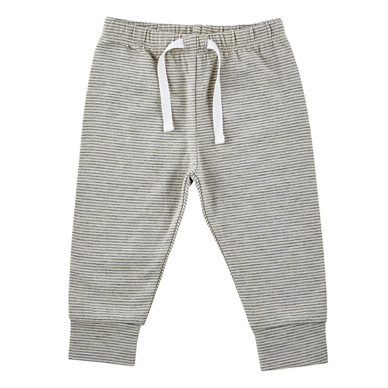 Pants - Cream/Grey Stripe, 0-6 months