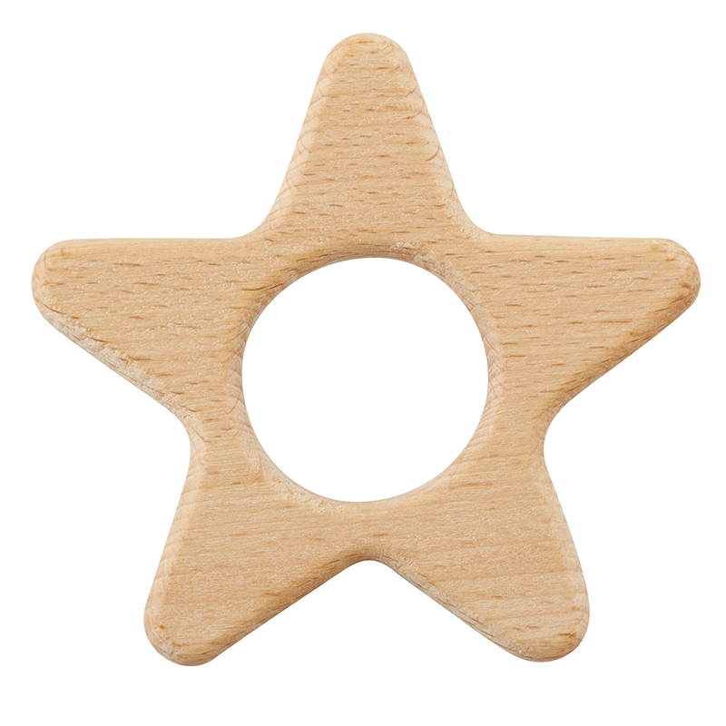 Heirloomed Wood Teether - Star