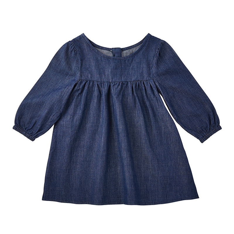 Denim Dress, 6-12 months