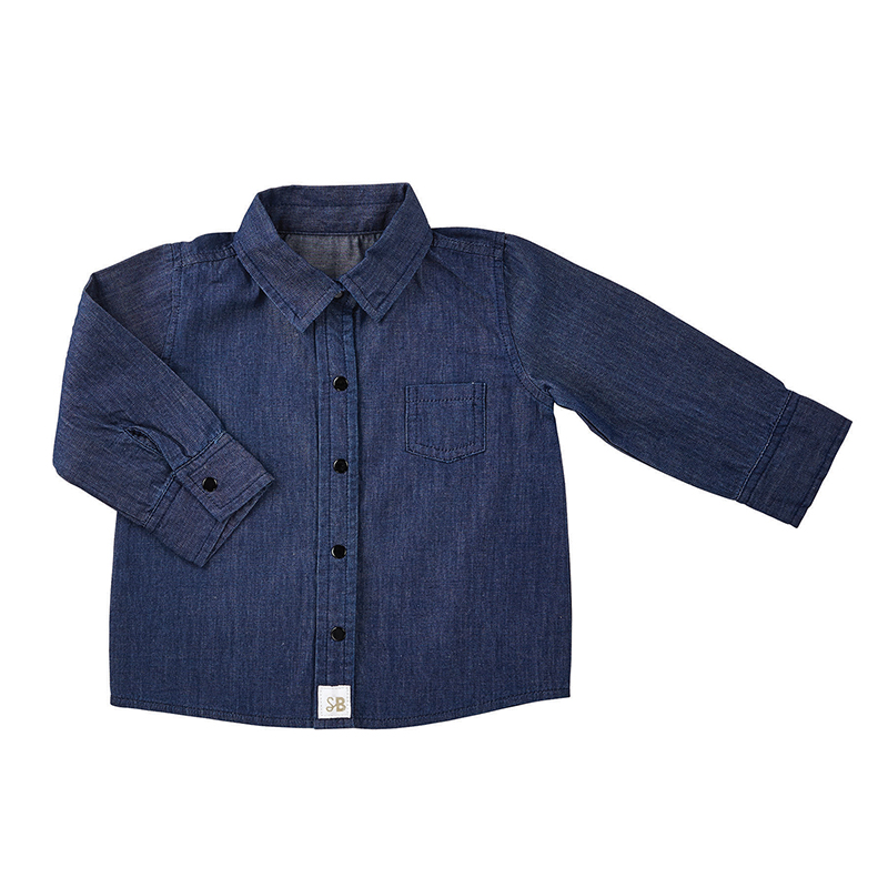 Denim Shirt, 6-12 months