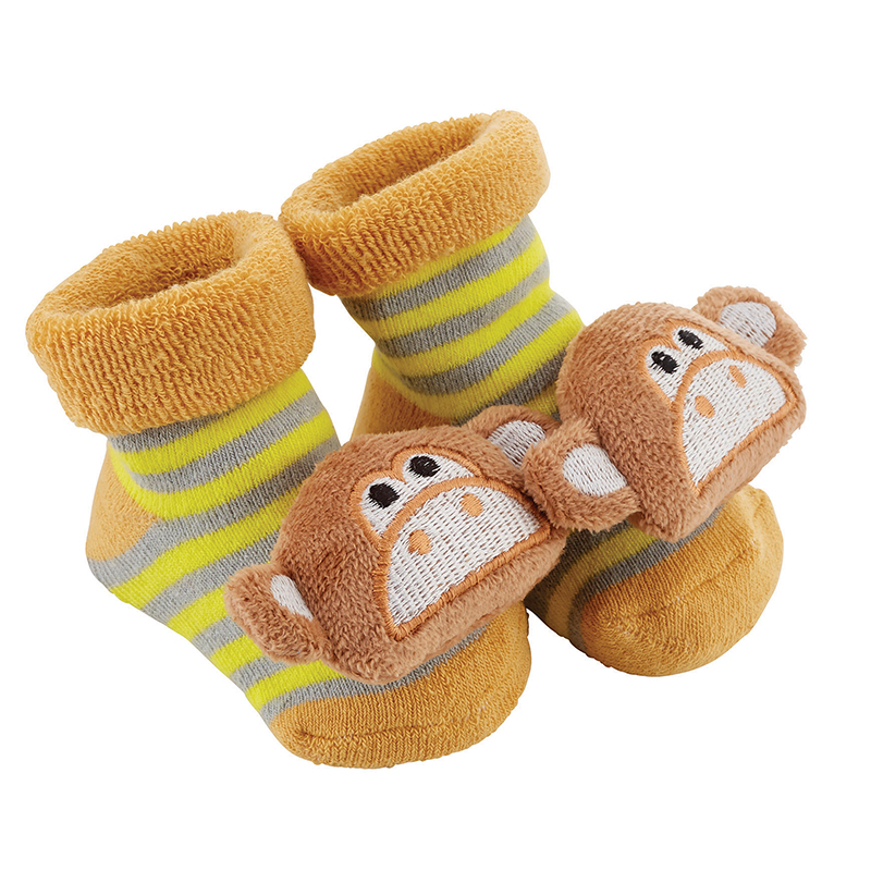 Rattle Socks - Monkey, 3-12 months