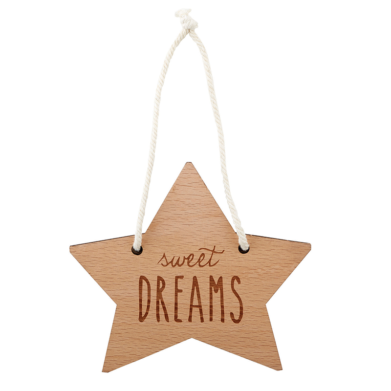 Wood Sign Sweet Dreams New Arrivals Santa Barbara Design Studio