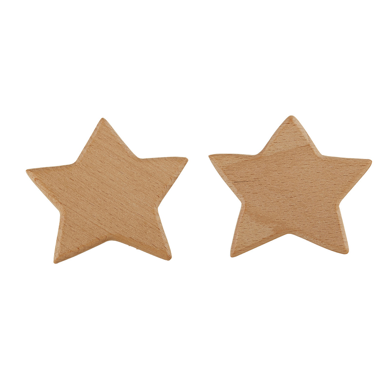 Wood Hooks - Star 2 Pack