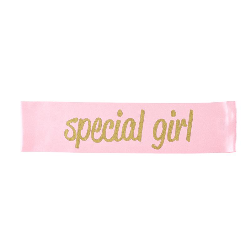 Pink Special Girl Sash