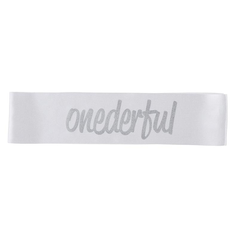 White Onederful Sash