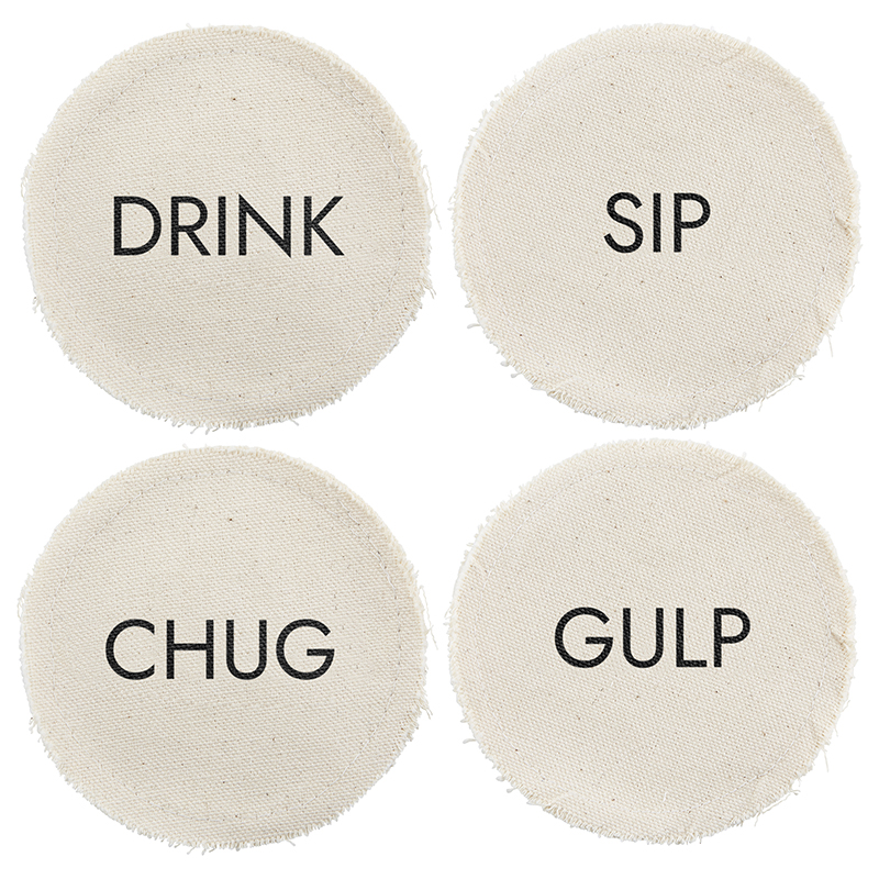 Canvas Coaster Set - Drink