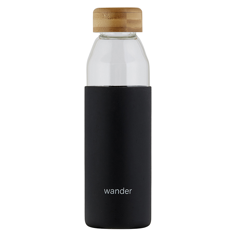 Glass Water Bottle w/ Bamboo Lid - Wander
