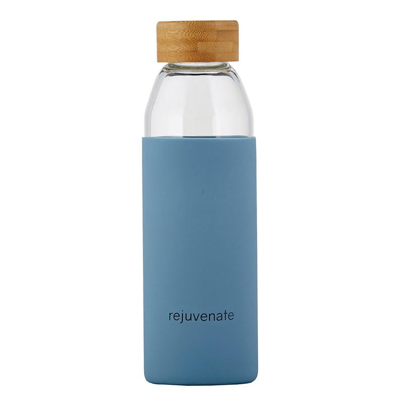 Glass Water Bottle w/ Bamboo Lid - Rejuvenate