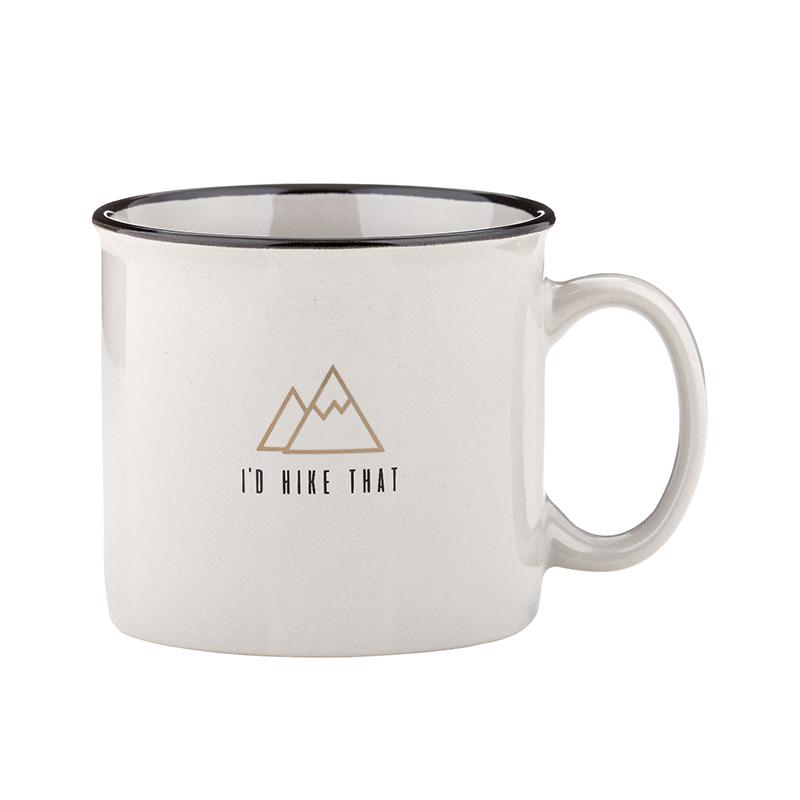 Campfire Mug - Grey - I'd Hike That