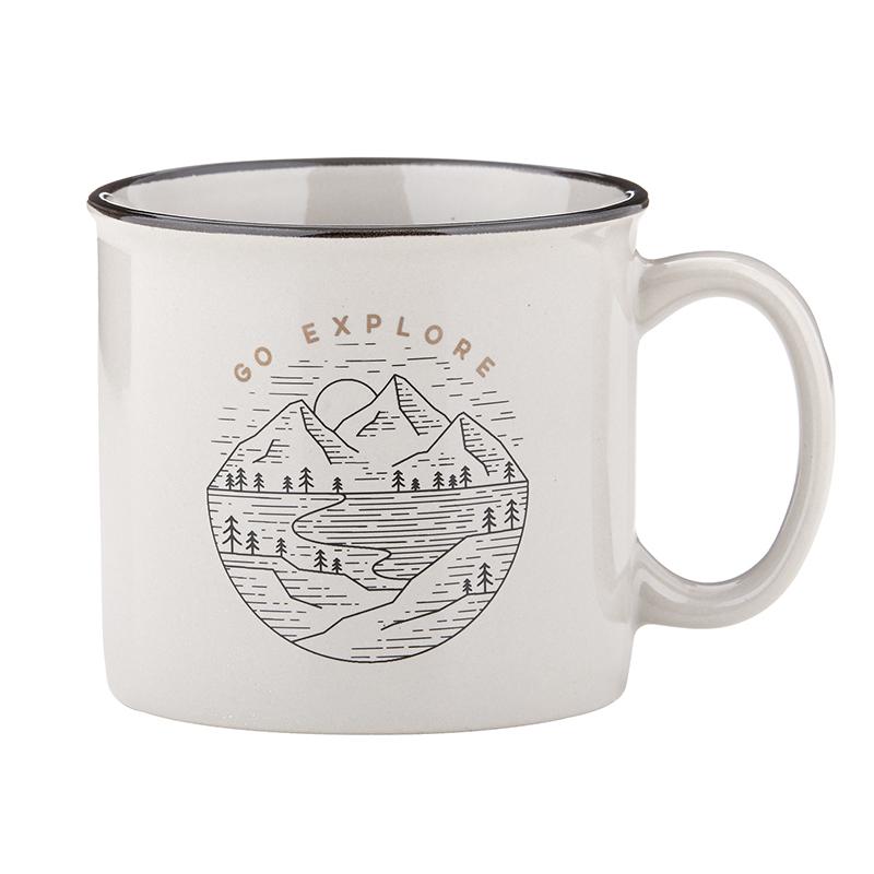 Campfire Mug - Grey - Go Explore