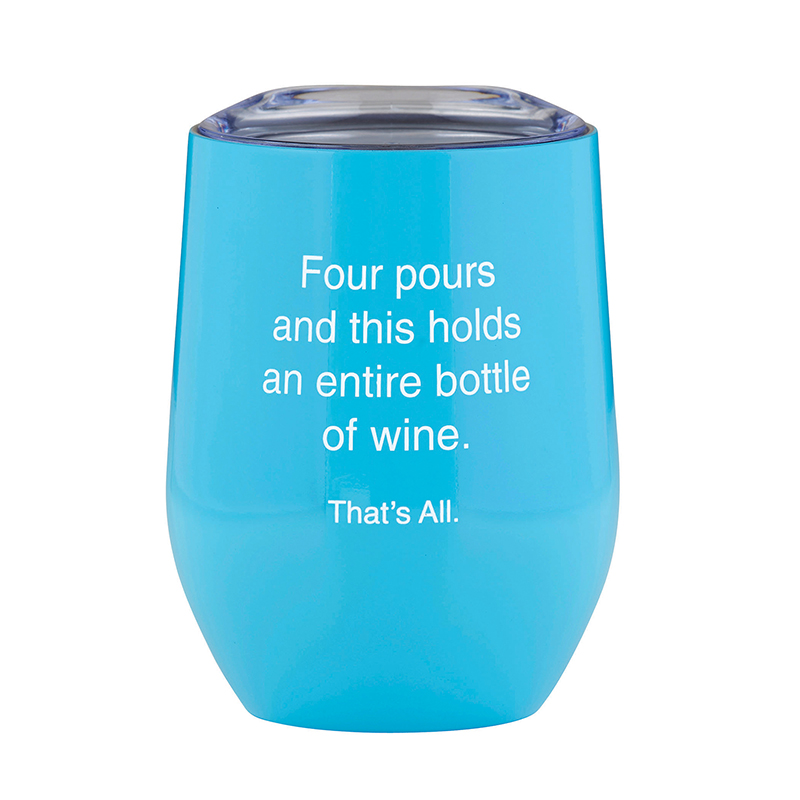 That's All® Stemless Wine Tumbler - Bottle of Wine