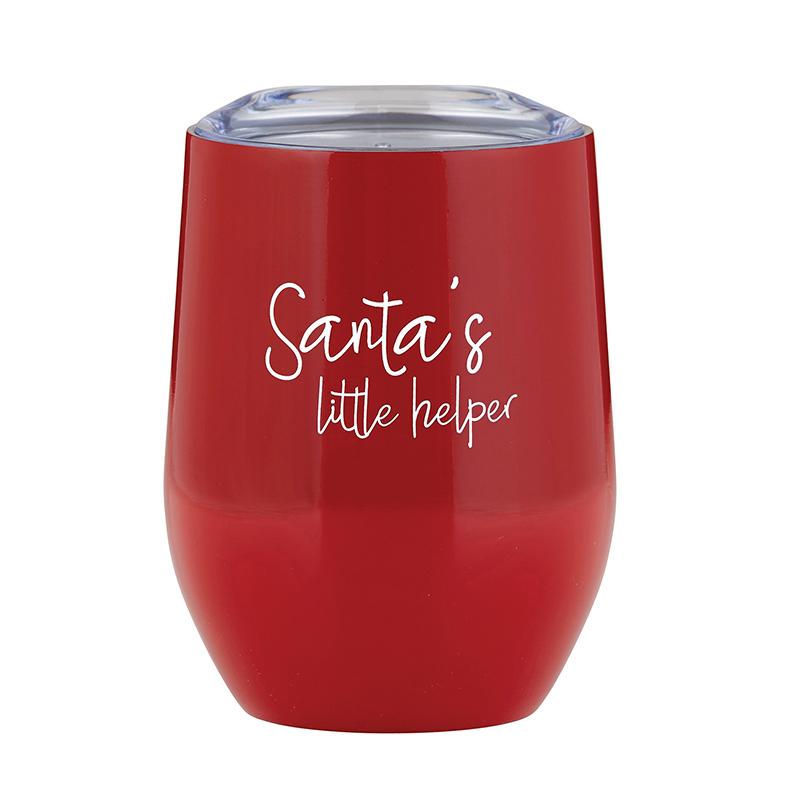 Stemless Wine Tumbler - Santa's Little Helper