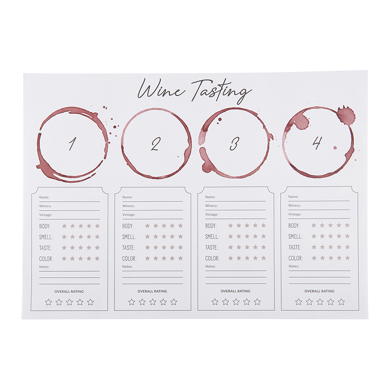 Wine Tasting Placemat