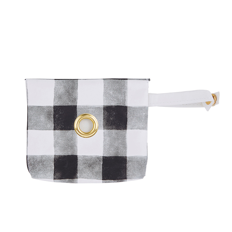 Washable Paper Waste Pouch - Buffalo Check
