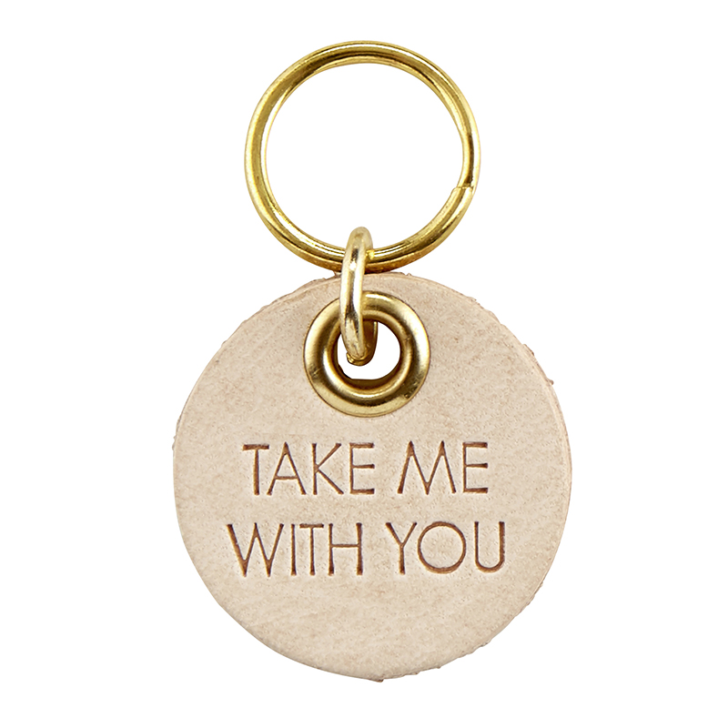 Leather Pet Tag - Take Me With You