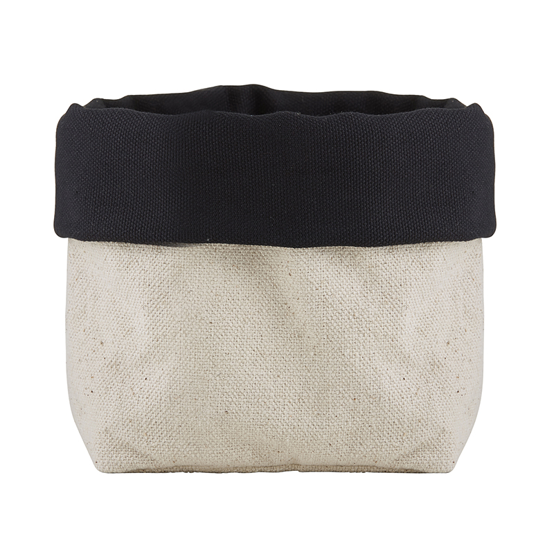 Linen Pouch - Natural/Black