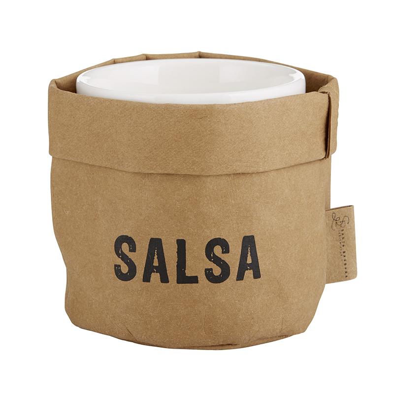 Salsa Holder & Ceramic Dish Set - Medium