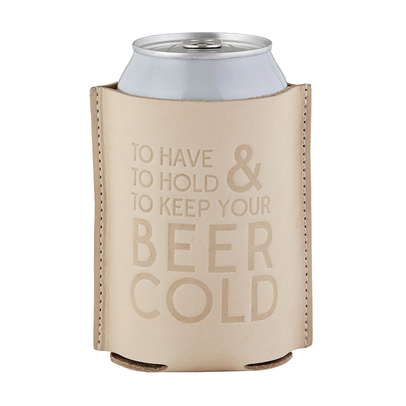 Leather Coozie - To Have & To Hold