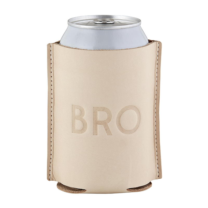 Leather Coozie - Bro