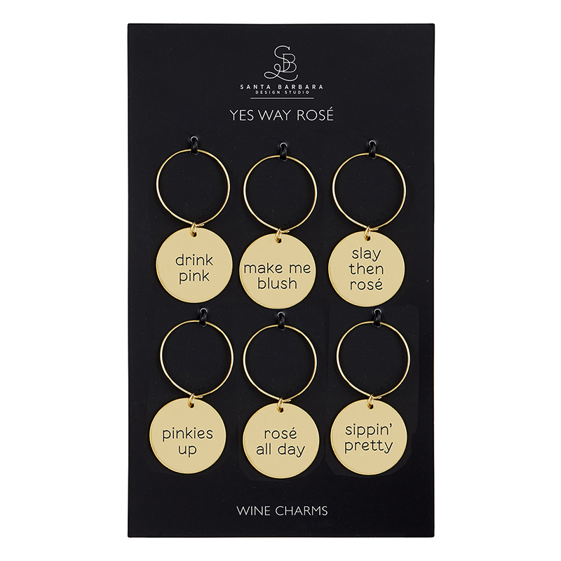 Wine Charm Set - Yes Way Rose