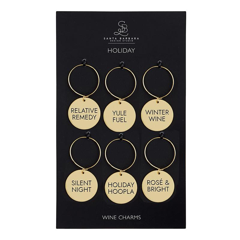 Wine Charm Set - Holiday