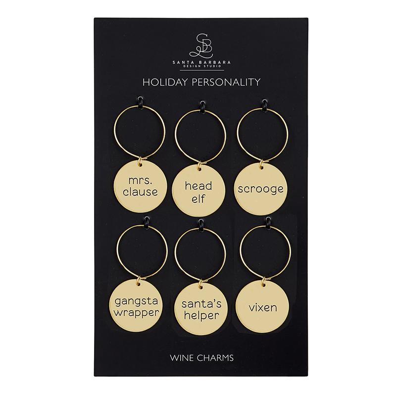 Wine Charm Set - Holiday Personalities