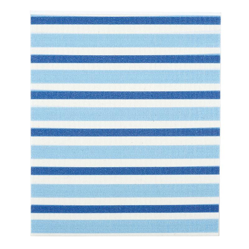 Baby Washcloth - Blue Stripe