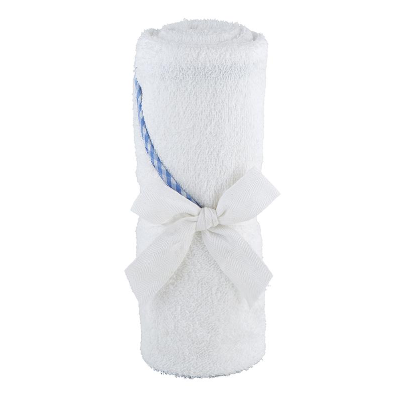 Hooded Towel - Blue Trim