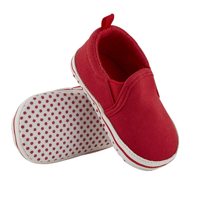 Shoes - Red Canvas, 6-12 months