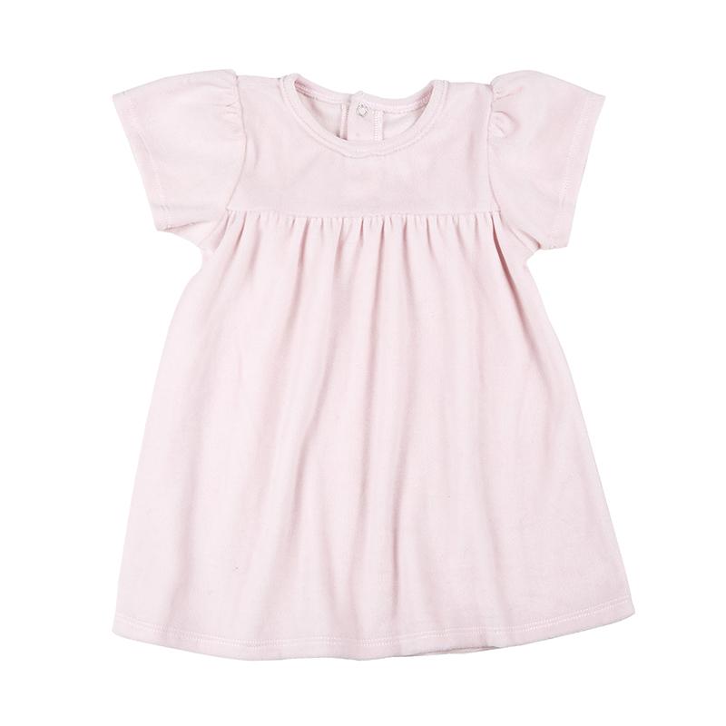 Velour Dress - Blush, 6-12 months