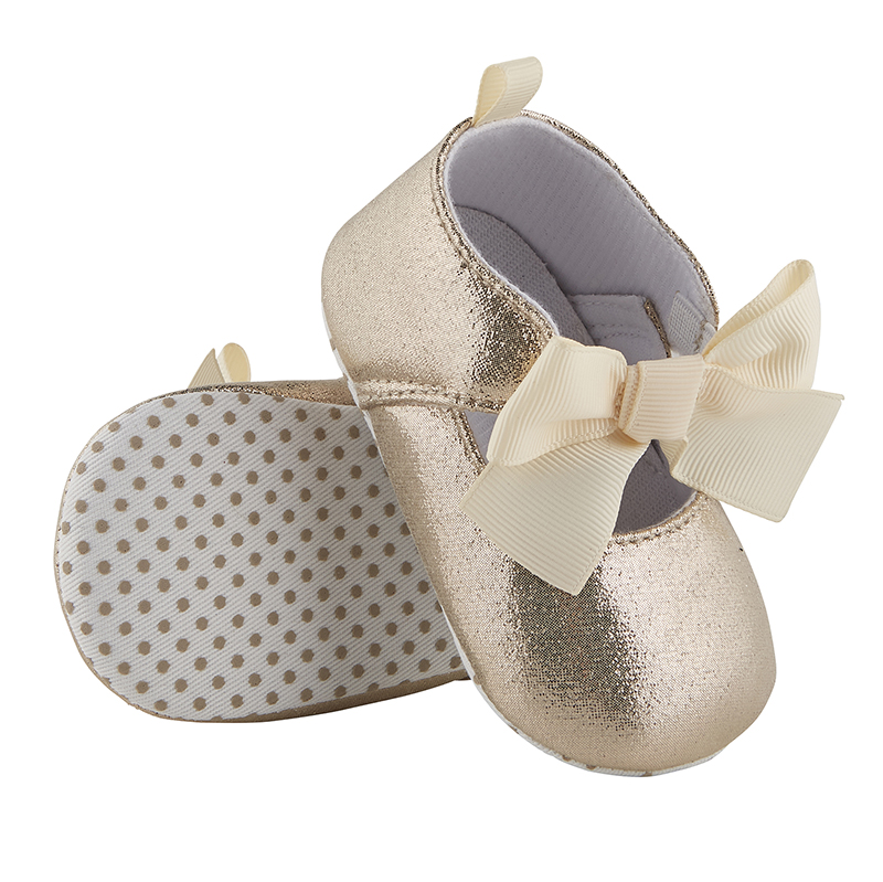 Metallic Shoes - Gold, 6-12 months