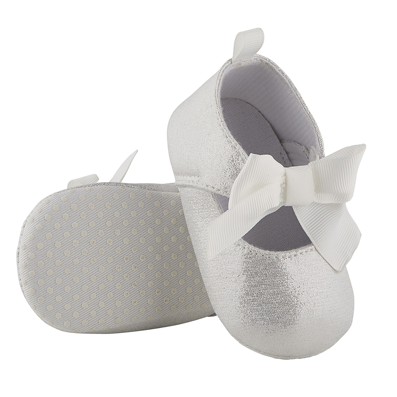 Metallic Shoes - Silver, 6-12 months