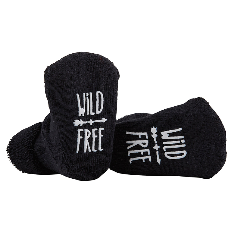Socks - Wild & Free - Black, 3-12 months