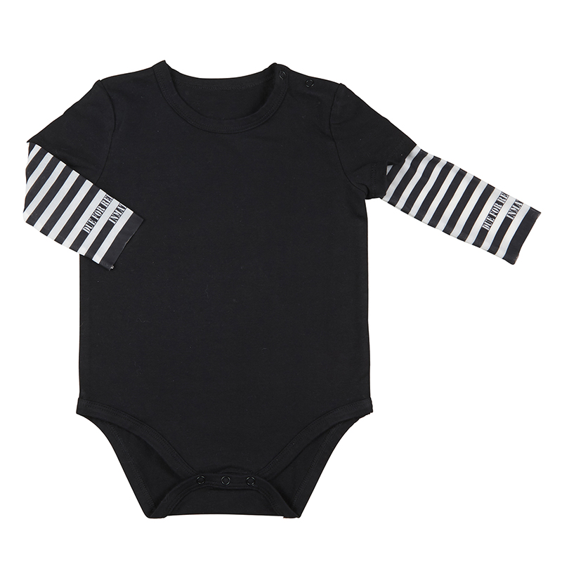 Tattoo Snapshirt - Jail Stripes, 6-12 months