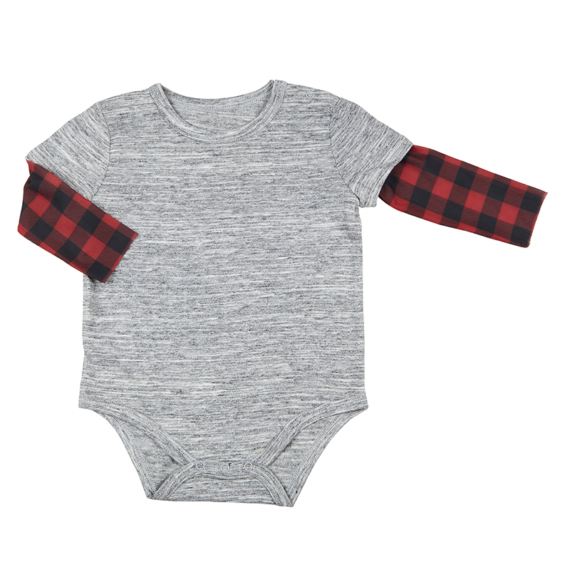Tattoo Snapshirt - Buffalo Check, 6-12 months