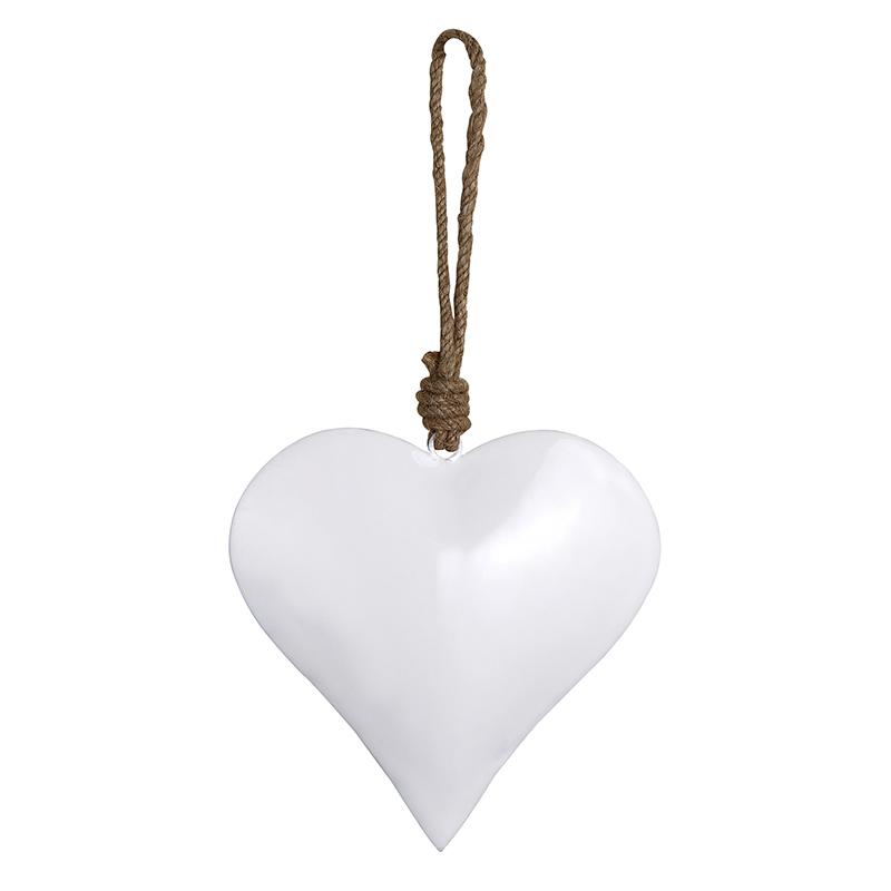 Enamel - White Heart