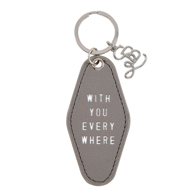 Face to Face Leather Motel Key Tag - With You Everywhere