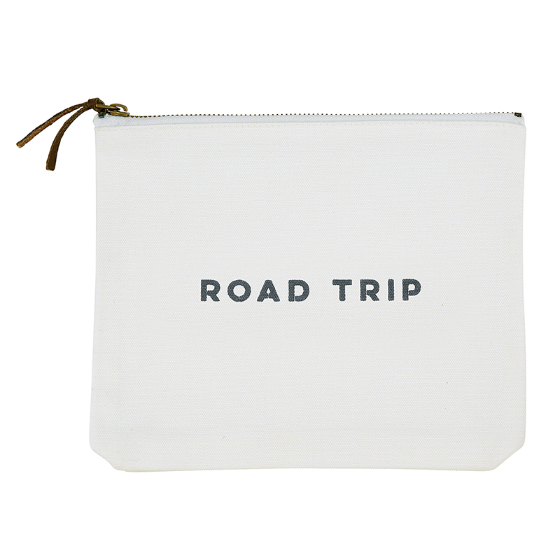 Face to Face Canvas Zip Pouch - Road Trip