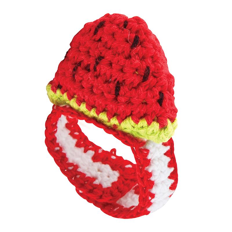 Crochet Wristlet - Watermelon