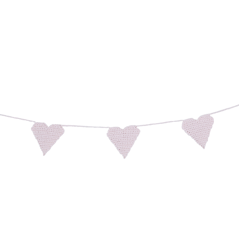 Crochet Garland - Pink Heart