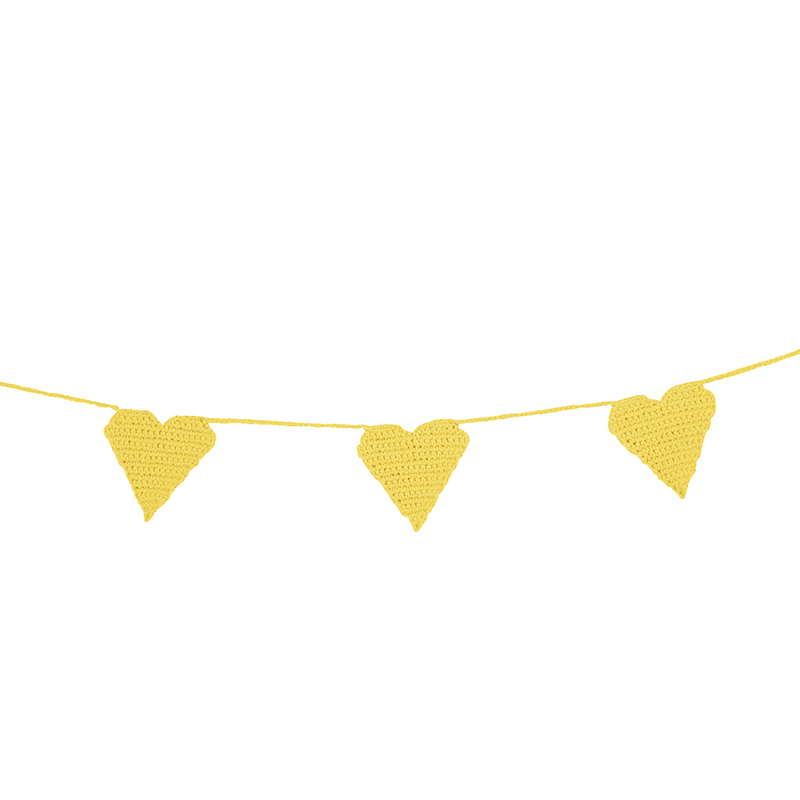 Crochet Garland - Yellow Heart