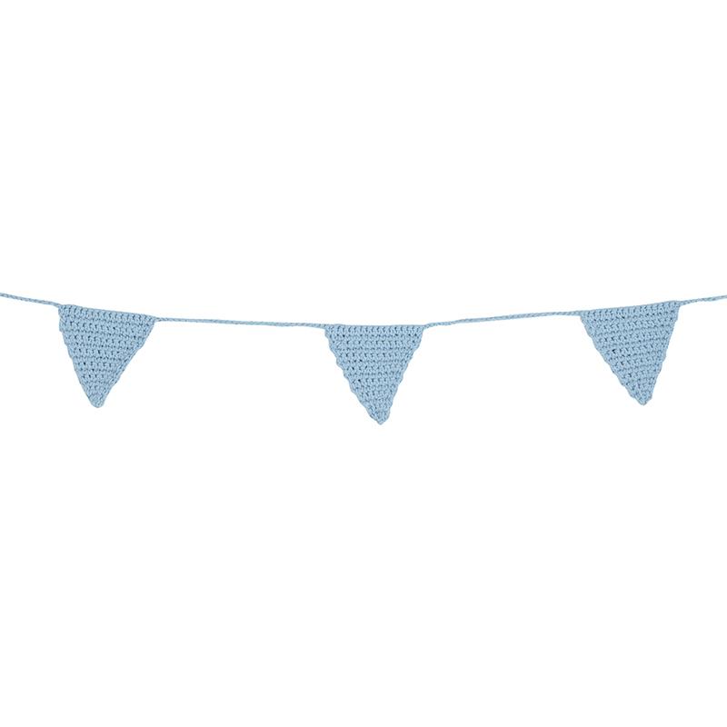 Crochet Garland - Blue Triangle