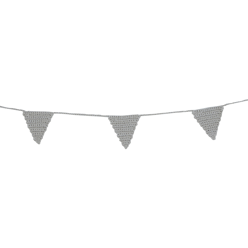 Crochet Garland - Grey Triangle