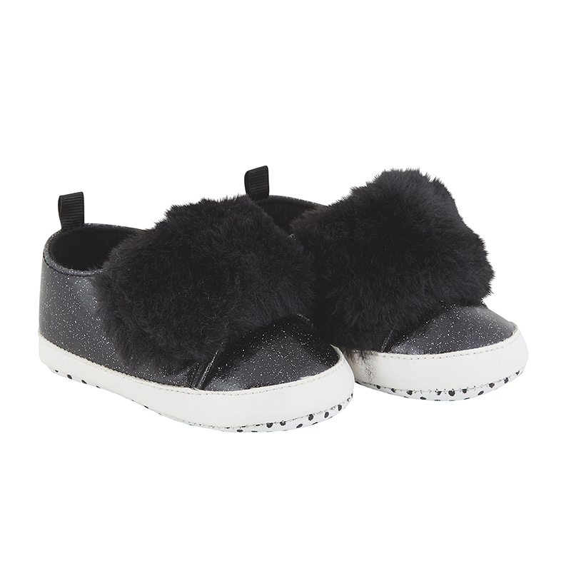 Shoe - Black Fur