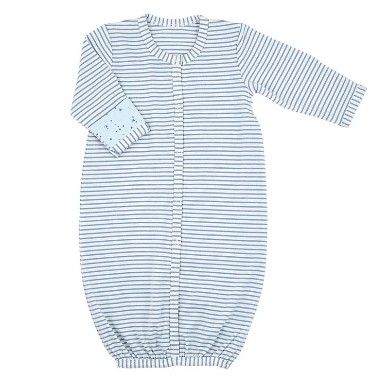 Gown - Blue Geo Stripe